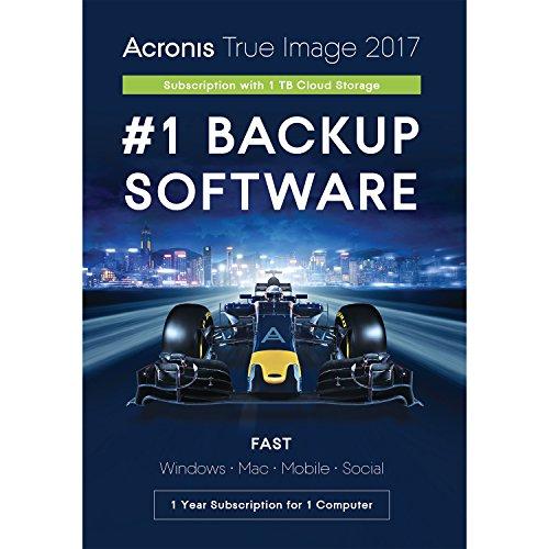 ACRONIS True Image Subscription - Box 1 Computer 1 jaar subscriptie 1TB Cloud (UK)