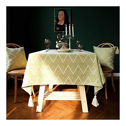 LOGO HumoliStore Ondulado Decorativo Lino / / Rectangular con Flecos Mantel Mesa Impermeable Grueso Boda Cubierta/té Capa/de Noche Mantel Very Practical