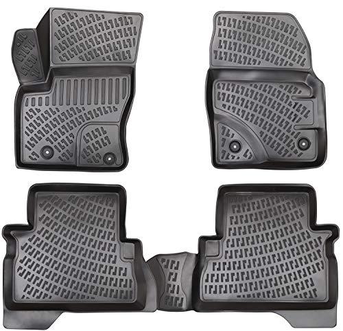 Elmasline Design 3D Gummimatten Set für Ford Kuga Baujahr 2012-2019 | Extra hoher 5cm Rand