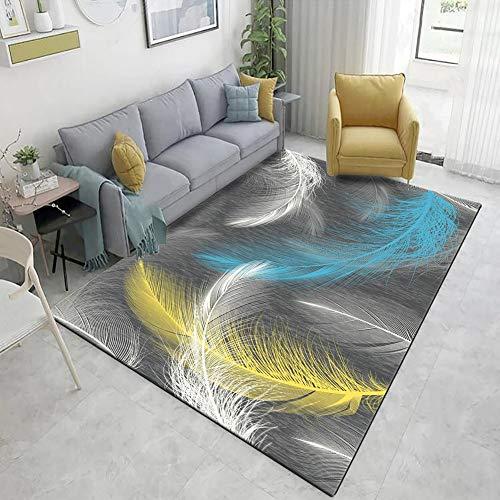 HXSKI Modern Minimalist Area Rugs,Rectangle Bedroom Bedside Food Non Skid Carpets,For Sofa Coffee Table Mat Home Decor Rugs-A 80x160cm