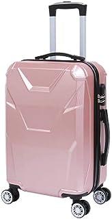 Trolley Case Bagage de Chariot de Mode Valise portab 36 * 24 * 58cm, 4 roues, bagage à Main de coquil dure légère avec la serrure de mot de passe (20 inches,Gold) Travel Luggage Carry-Ons