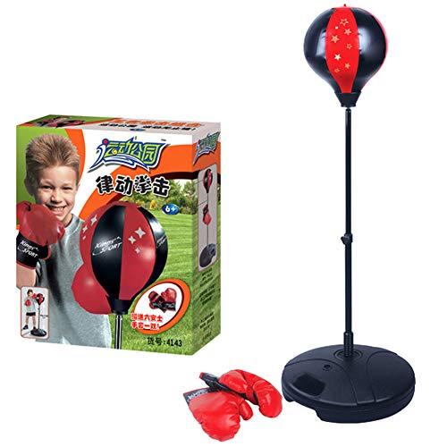NANANA Punchingballe Boxen Set Boxsack Kinder mit Boxhandschuhen, Boxtraining Standboxball Höhenverstellbar Boxsack Boxständer Höhenverstellbar von 90 Bis 130 cm
