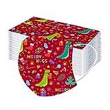 10-50 Pcs Niños Navidad Bufanda Bandanas,Moda Velo de Cómodo Transpirables con Impresión Papá Noel,Scarf Desechables