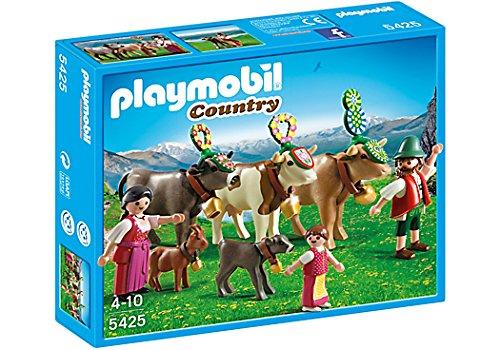 PLAYMOBIL Country - La vie à la montagne - Famille et vaches des montagnes - 5425