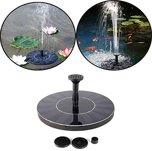 LZQ 1,4W Springbrunnen Solar Rund Teichpumpe Solarpumpen Pumpe Aussen für Garten, Vogel-Bad, Teich, Fisch-Behälter Wasserspiel Dekoration