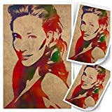 Qqwiter Leinwand Poster Cate Blanchett Wandkunst Druck
