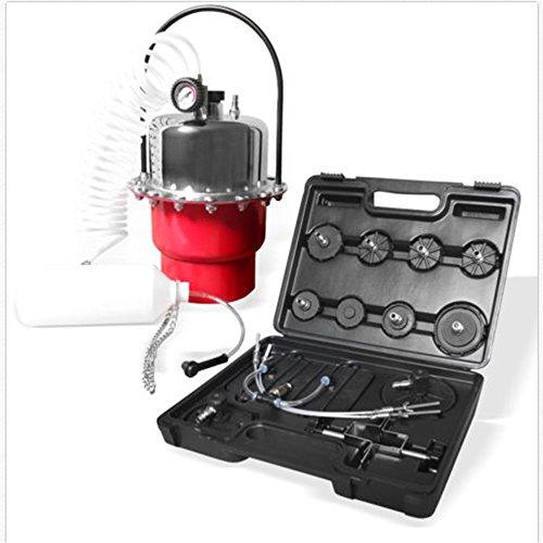 Flyelf Purgeur de Frein,Pneumatique Air Pressure Bleeder Kit Automotive Brake Bleeder Outil Adaptateur Set, à Air Comprimé 0-140PSI 5L (Rouge)
