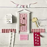 WEJUANR Tooth Fairy Puerta Kit De La Casa De Muñecas De Hadas De Los Dientes Puertas Miniatura De Plástico Bricolaje Muebles Juguete Enchanted Fairy Puerta For Ratón Agujero del Sitio del Cabrito