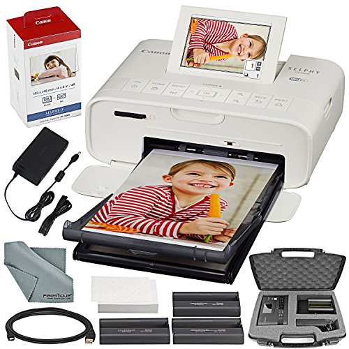 Find Bargain Canon SELPHY CP1300 Compact Photo Printer (White) with WiFi and Accessory Bundle w/Cano...