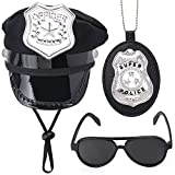 Yewong Pet Police Costume Accessory Set Pet Dog Cat Police Hat Badge Aviator Sunglasses Pet Dress Up Kit for Halloween Christmas Cosplay Role Play Party (Set-B)