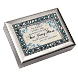 Cottage Garden Roots Family Tree Begin Brushed Silvertone Jewelry Music Box Plays You Light Up My Life