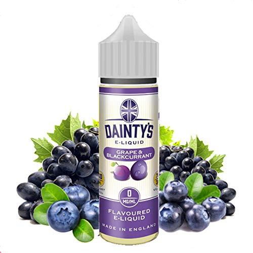 Daintys - Grape & Blackcurrant - Eco Vape E-Liquid | 50ML | Sin Nicotina: 0MG | 70VG/30PG | E-Liquido para Cigarrillos Electronicos | Vaper | E Cigarette | E Shisha
