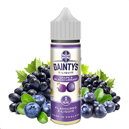 E-Liquid GRAPE BLACKCURRANT DAINTYS | 50ML TPD | ECO VAPE | Sin Nicotina: 0MG | E-Liquido para Cigarrillos Electronicos - E Liquidos para Vaper 70/30