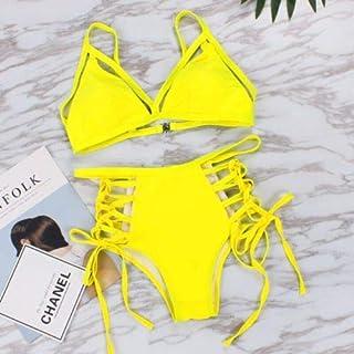 BEESCLOVER Padded Bra Bikini Set Swimsuit Women Bandage Push-up Triangle Swimwear Bathing