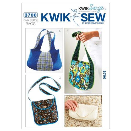 Kwik Sew K3700 Kwik Serge Bags Sewing Pattern, No Size