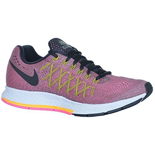 Nike WMNS Air Zoom Pegasus 32 – tmbld Gry/Blck-LSR orng-pnk pw, tamaño #: 5.5