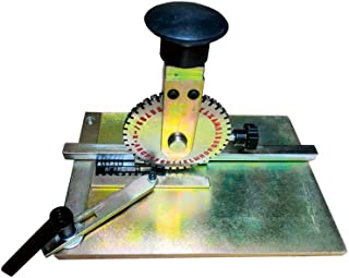 Manual Deboss Metal Embosser Label Dog Tag Stamping Embossing Marking Machine with 2mm Print Wheel