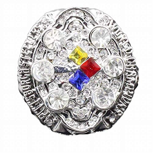 ZJL Sport Fans Ring Collectie meester Rings fans High-end Collection Fans Alloy Ringen Heren Accessoires Vintage Accessoires, Zilver, 10 10 zilver