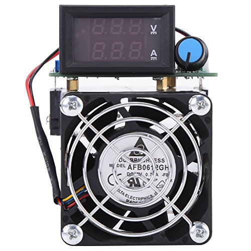 DC 12V DC Load Yester, Electronic Load Battery Capacity Tester Module, 0-10A 100W Intelligent Constant Current Electric Discharge Monitor for Power Bank Capacity Testing