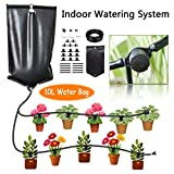CYEVA Indoor Self Watering System with 10L Water Bag, Gravity Fed Automatic Watering System for 10 Potted Plants, Great Helper for Vacation Plant Watering