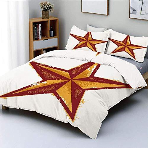Juego de fundas nórdicas, diseño de ropa de cama decorativa decorativa de 3 piezas con estilo retro de estilo occidental desgastado de grunge, con funda de almohada, caléndula de secoya, el mejor rega