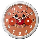 リズム時計 掛け時計 キャラクター それいけ アンパンマン M713 白 Φ33x4cm 4KG713-M03
