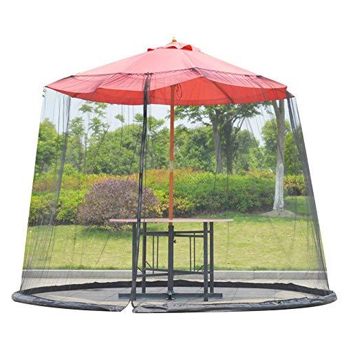 Wangyan - Sombrilla para patio o jardín, sombrilla de malla para jardín, sombrilla, mosquitera, cubierta para mosquitera para patio, mesa de jardín, patio, jardín, terraza, muebles cenador
