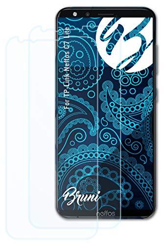 Bruni Schutzfolie kompatibel mit TP-Link Neffos C7 Lite Folie, glasklare Bildschirmschutzfolie (2X)