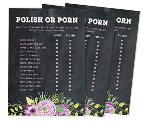 Inkdotpot 50-Pack Bulk Partei Aktivität Spiel polieren oder Porno-Spiel-Karten Blumen-Tee-Party Bachelorette Party Brautdusche Sammlung