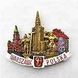 TDCTshop Monumentos polacos, Palacio de Cultura y Ciencia de Varsovia, refrigerador de Resina 3D, imanes, Souvenirs turísticos Hechos a Mano, artículos para el hogar de Cocina