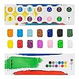 int!rend Acryl Farben Set Künstlerfarben mit Pinsel 14 Acrylfarben x 18 ml für Kinder & Erwachsene, wasserfest für Leinwand, Holz, Ton, Papier - 6