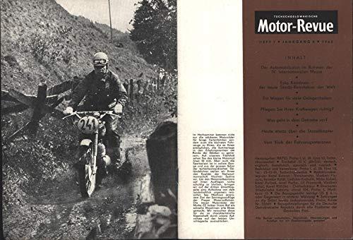 """Motor Revue, tschechoslowakische Zeitschrift;\""""Esko Keinänen- der beste Skoda - Rennfahrer der Welt ; Jaroslaw Pudil CZ 250,Die Stossdämpfer JAWA und CZ; SKODA Octavia Combi\"""""""