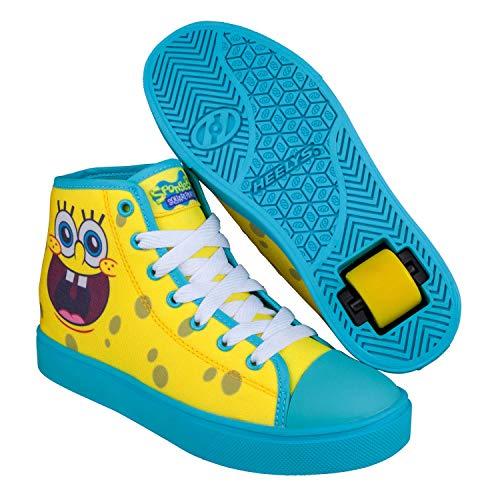 Heelys Unisex-Kinder Hustle (hes10330) Spongebob Leichtathletik-Schuh, Yellow/Blue, 38 EU