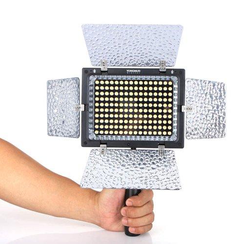 YONGNUO YN-160 II LED Luce video lampada con Condenser MIC per Canon Nikon Pentax Camera DV Camcorder + telecomando