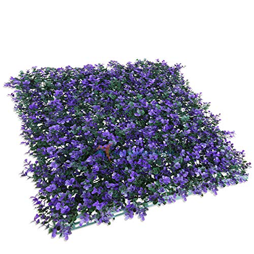 TANG by Sunshades Depot Artificial Lavender Fence Privacy Screen Evergreen Hedge Panels Fake Plant Wall 20'x20' inch (12pcs)