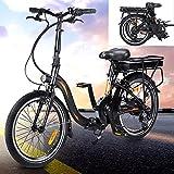 Bicicleta eléctrica Conduce a una Velocidad máxima de 25 km/h. Bicicleas Capacidad de la batería de Iones de Litio (AH) 10AH MTB electrica Tamaño de neumático 20 Pulgadas, Negro