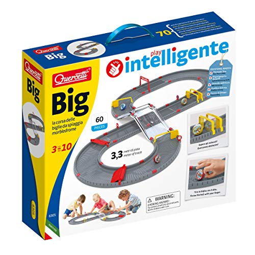 Quercetti 13/6305 Big Marbedlome - Circuito de canicas (50 Piezas para Construir la Pista)
