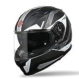 Casco Moto Integral Modular Casco Flip up Modular Doble Lente Motocicleta Seguro Cara Completa Cálido y Resistente Viento para Motocicleta ECE Homologado