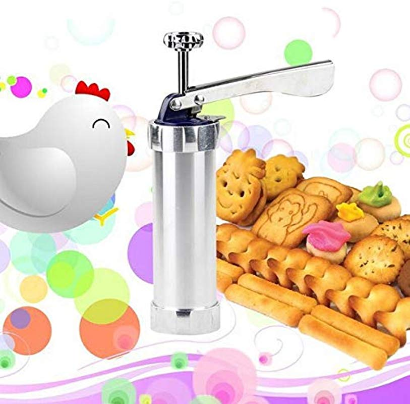 Kitchen Appliances Multi Function Household Cookie Biscuit Machine Tool Mold Decorating Mounted DIY Baking With 20 Moulds 4 Nozzles Silver Color Color1
