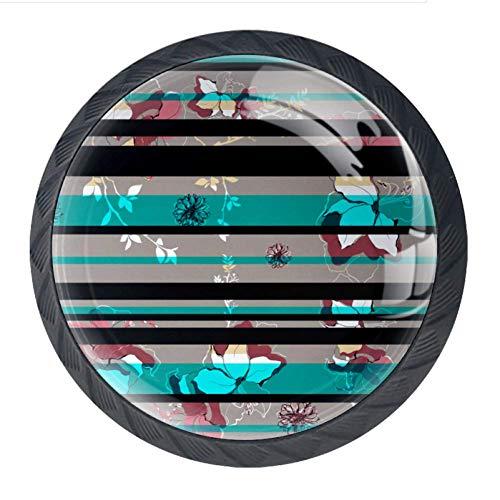 Pomelli in vetro di design per armadi e cassetti, manopole per armadietti da cucina, maniglie per mobili, per decorare la casa, colore: nero, verde, grigio