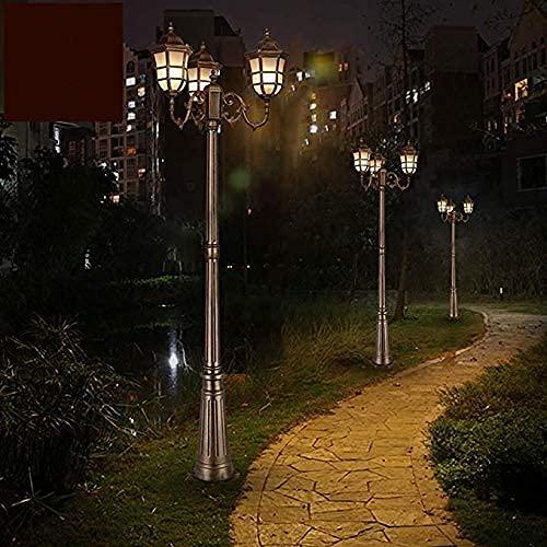Poste de poste moderno para exteriores, IP55, resistente al agua, para patio, pórtico, puerta, columna, lámpara de pie, luces de jardín, farol, farol, 3 luces, bolardo, lámpara de luz de pilar su