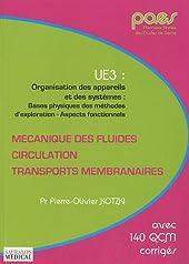 Mécanique des fluides, circulation, transports membranaires - UE3 : Organisation des appareils et des systèmes : bases physiques de sméthodes d'exploration - Aspects fonctionnels de Pierre-Olivier Kotzki