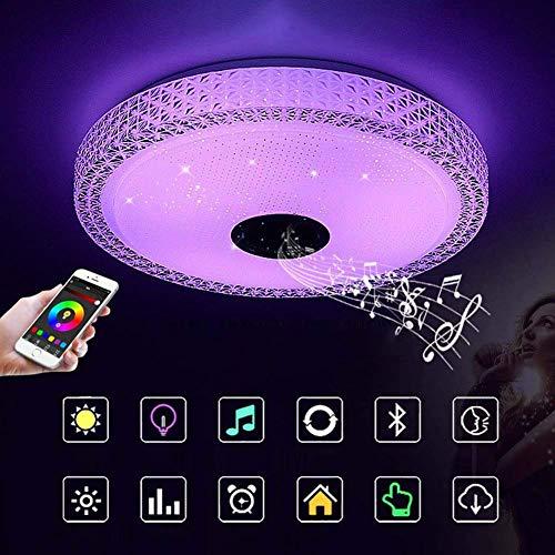 kzytamz LED Musik Deckenleuchte, RGB Farbwechsel Deckenleuchte mit Bluetooth-Lautsprecher Smartphone APP Unterputz-Befestigung für Schlafzimmerparty, 85-265V
