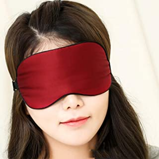 Asdfnfa Silk Goggles Sleep Shading Breathable Men and Women Cute Sleep Relief Eye Fatigue Eye Mask asdfnfa (Color : Red)