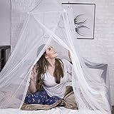onemate ® Moskitonetz für Zuhause & Reise - Unfassbar Feinmaschig durch 500 Mesh - Umfangreiches Set mit 15 Klebehaken - Extra Großes Himmelbett - 100% Malaria Sicher - 2