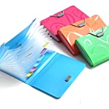 USUNQE 4 Pack Small Size Expanding Files Folder with Tabs, 13 Pockets File Organizer for Receipts Coupons Checks and Tickets, 4 Different Colors (4 PCS)