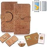 K-S-Trade Schutz Hülle Für HTC One A9s Handyhülle Kork Handy Tasche Korkhülle Handytasche Wallet Hülle Walletcase Schutzhülle Flip Cover Smartphone