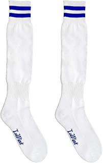 Luwint Kids Long Soccer Socks - Extra Cushion Thick Cotton Stripe Football Stocks for Boys Girls Ages 3 4 5 6 7 8 Years Old