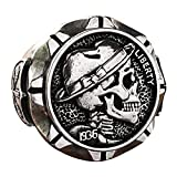 DZXCB Punk Ring Hobo Nickel Brave Skull Mens Bicicleta Estilo Moneda Regalo para Él,9