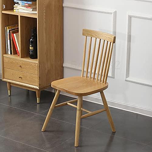 HYY-YY Silla de madera maciza nórdica Windsor americana de comedor elegante y moderno silla de comedor de roble blanco café restaurante (color: Boom Clap 1)